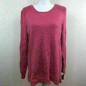 Karen Scott Womens Sweater Crewneck Pink Sz Large